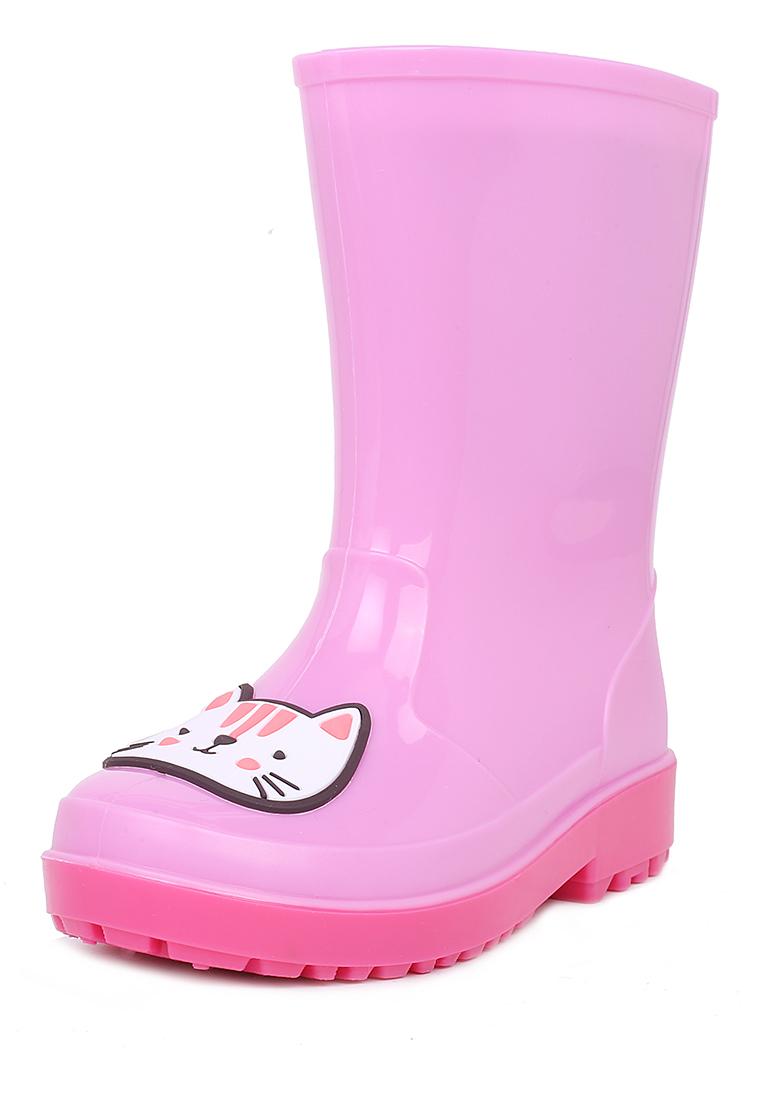 Купить FL19SS-21, Резиновые сапоги для девочек Honey Girl, цв. розовый, р-р 22, Резиновые сапоги детские