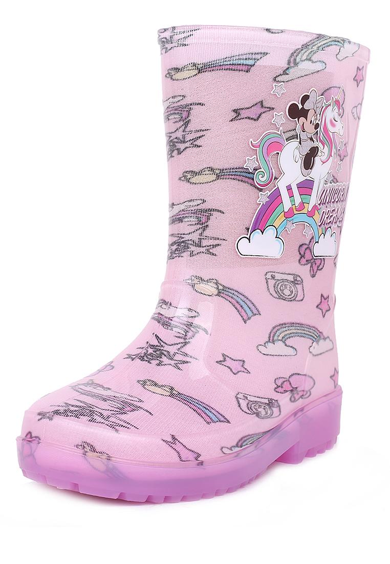 Купить FL19SS-46, Резиновые сапоги для девочек Minnie Mouse, цв. розовый, р-р 21, Резиновые сапоги детские