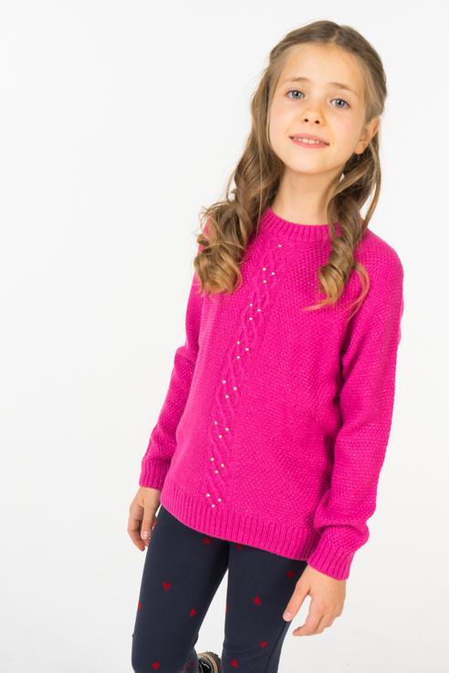 Купить 218BBGC33013600, Джемпер для девочки Button Blue, цв.розовый, р-р 116,