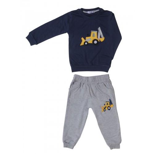 Купить 2383-01, Комплект для мальчиков Ciggo, цв. синий, р-р 86, Детские костюмы