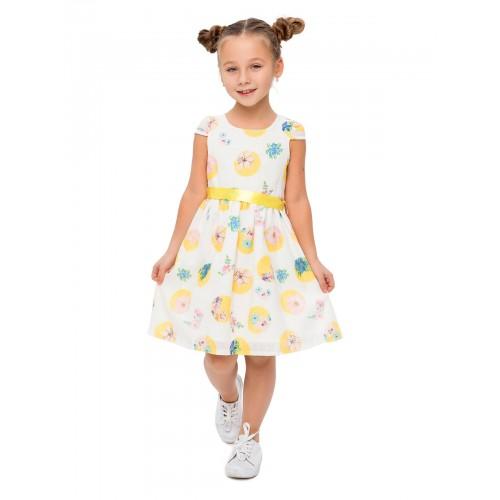 Текстильное платье BIDIRIK, цв. желтый, р-р 116 фото