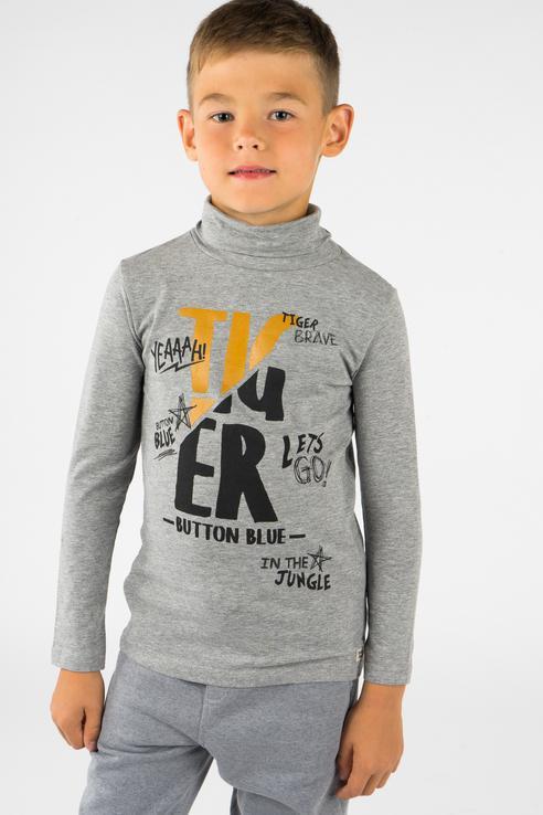 Водолазка для мальчика Button Blue, цв.серый, р-р 140