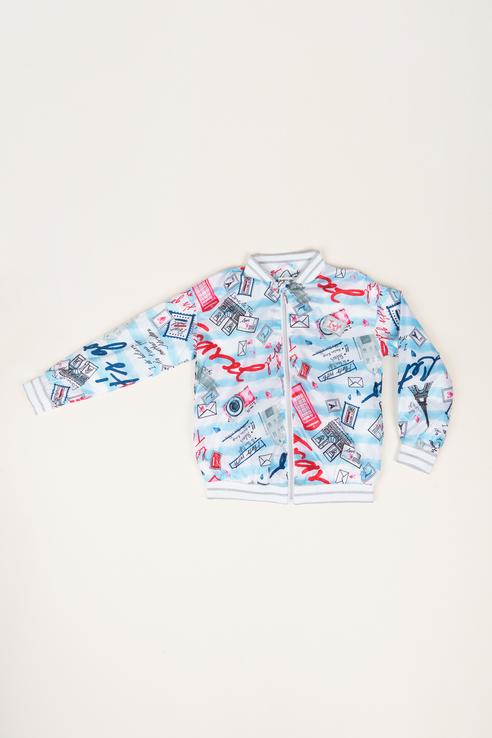 Купить 120BBGC40030213, Ветровка для девочки Button Blue, цв.белый, р-р 116,