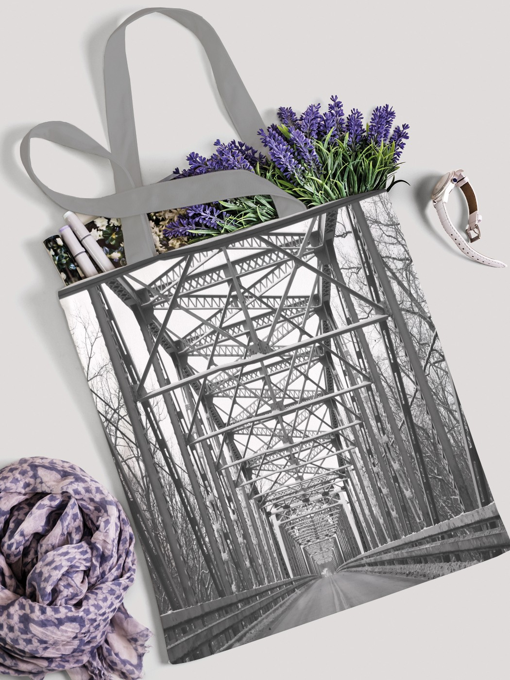 Сумка женская JoyArty Мостовая конструкция фото