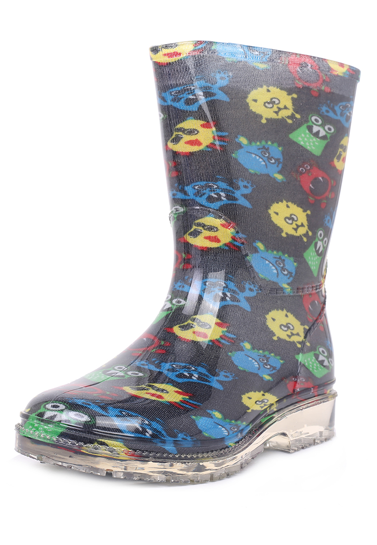 Купить FL19SS-26, Резиновые сапоги для мальчиков Biker, цв. темно-синий, р-р 28, Резиновые сапоги детские