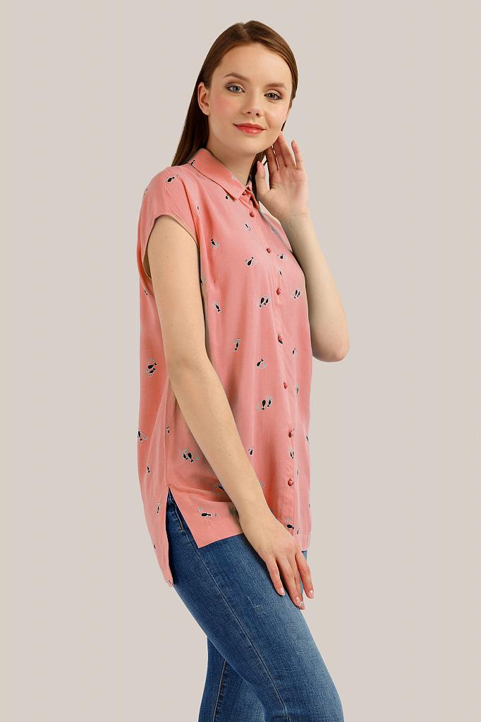 Блузка женская Finn-Flare S19-32081 розовая S фото