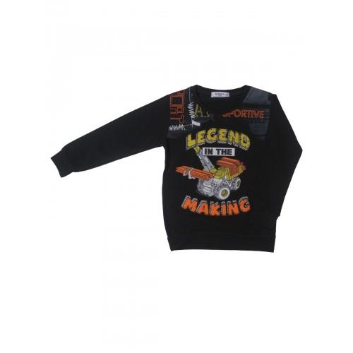 Джемпер для мальчиков Ciggo, цв. черный, р-р 104 фото