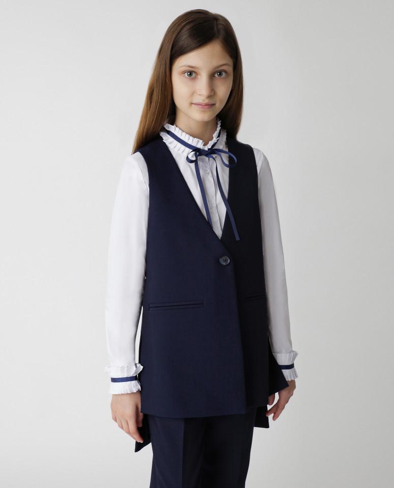 Синий жилет для девочек Gulliver, модель 220GSGC4706,