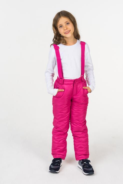 Купить 218BBGC64023600, Брюки утепленные для девочки Button Blue, цв.розовый, р-р 104,
