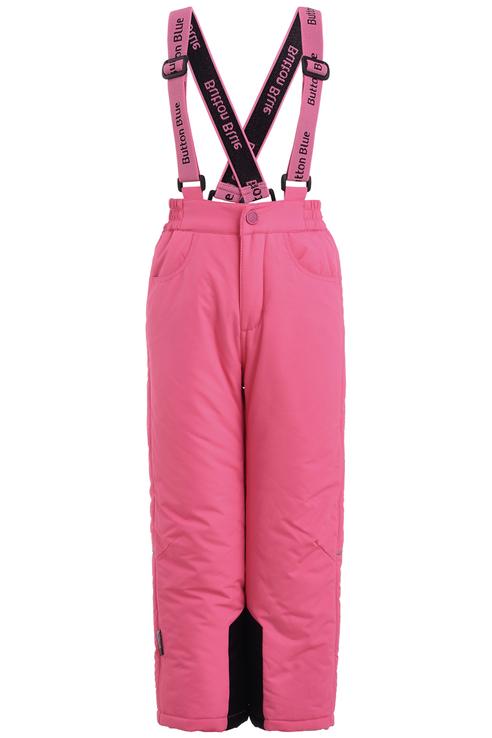 Купить 219BBGA64021200, Брюки утепленные для девочки Button Blue, цв.розовый, р-р 122,