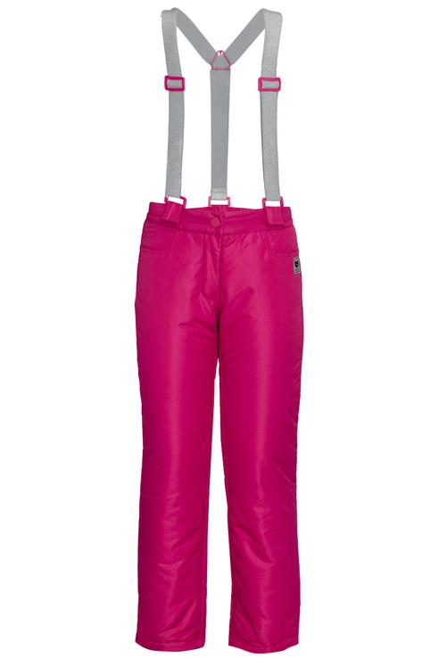 Купить 219BBGC64023600, Брюки утепленные для девочки Button Blue, цв.розовый, р-р 134, Полукомбинезоны и брюки для девочек