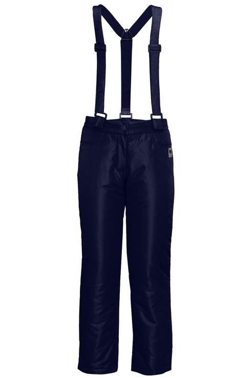 Купить 219BBGC64021000, Брюки утепленные для девочки Button Blue, цв.синий, р-р 128, Полукомбинезоны и брюки для девочек