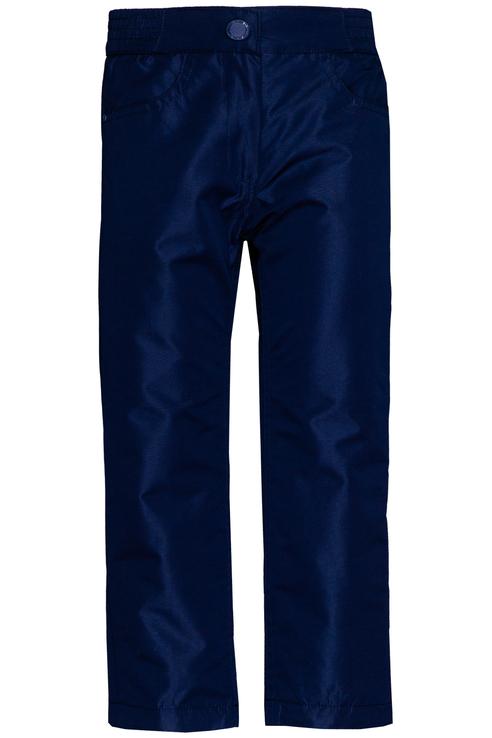 Купить 219BBGC64011000, Брюки утепленные для девочки Button Blue, цв.синий, р-р 122, Полукомбинезоны и брюки для девочек