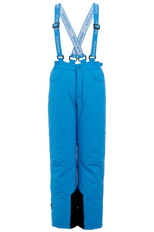 Купить 219BBBA64025900, Брюки утепленные для мальчика Button Blue, цв.синий, р-р 134, Полукомбинезоны для мальчиков
