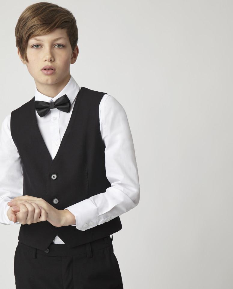 Купить Черный жилет для мальчиков Gulliver, модель 220GSBC4704, размер 158,