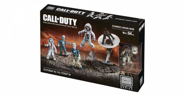 Конструктор Mega Construx Call of Duty Zombies Moon Mob на 54 деталь