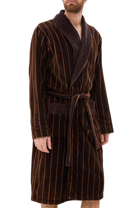 Халат махровый Мужской Luisa Moretti 6081 коричневый S