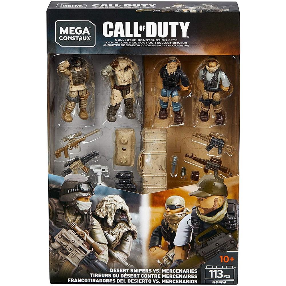 Купить Конструктор Call of Duty Снайперы Пустыни против Наемников (Desert Snipers Vs. Mercenaries) 113 деталей, Конструктор Mega Construx Call of Duty Desert Snipers Vs. Mercenaries, 113 деталей, Конструкторы пластмассовые