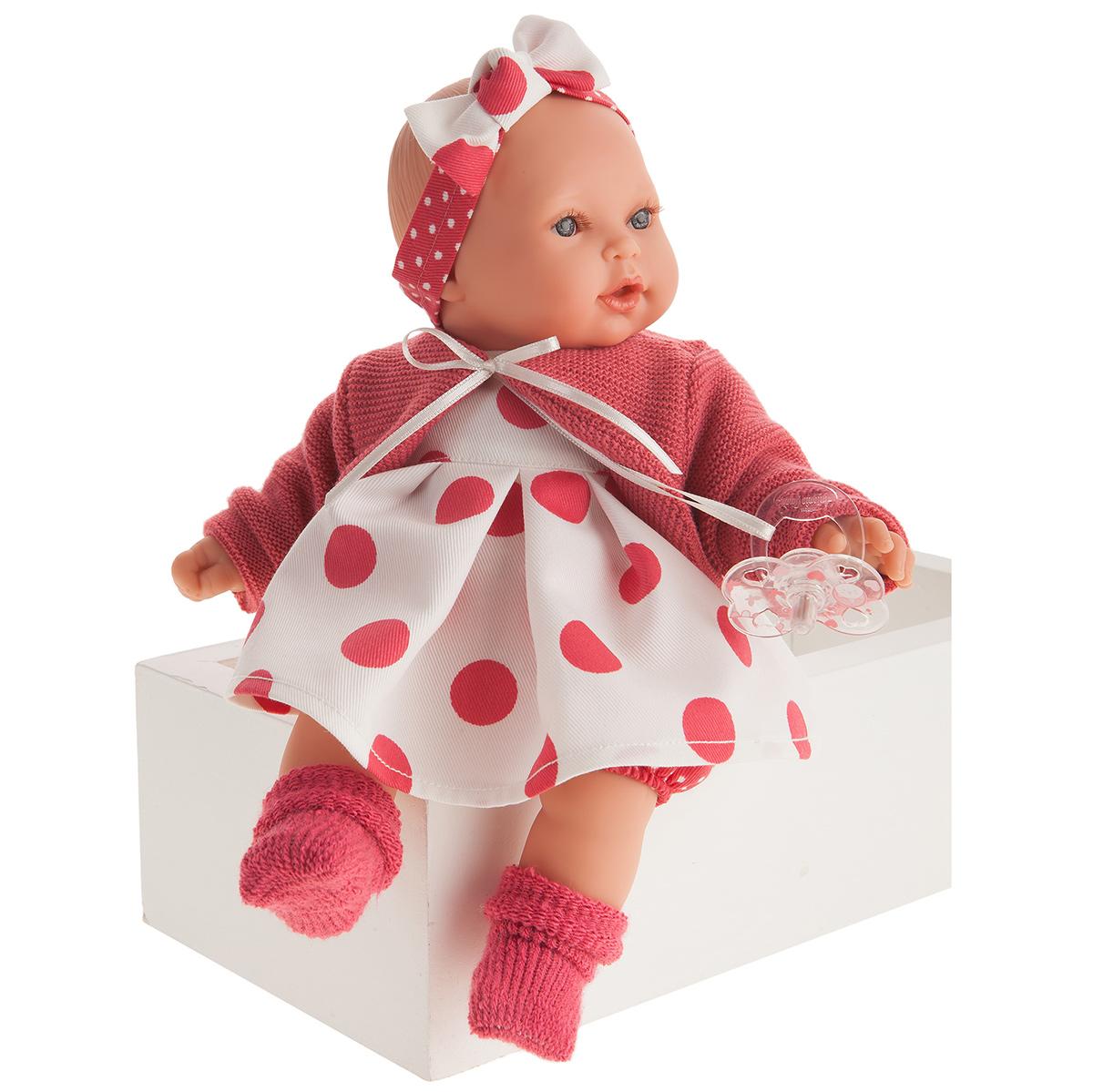 Купить 1117 Кукла Памела в красном, озвученная (плач), 27см, Antonio Juan,