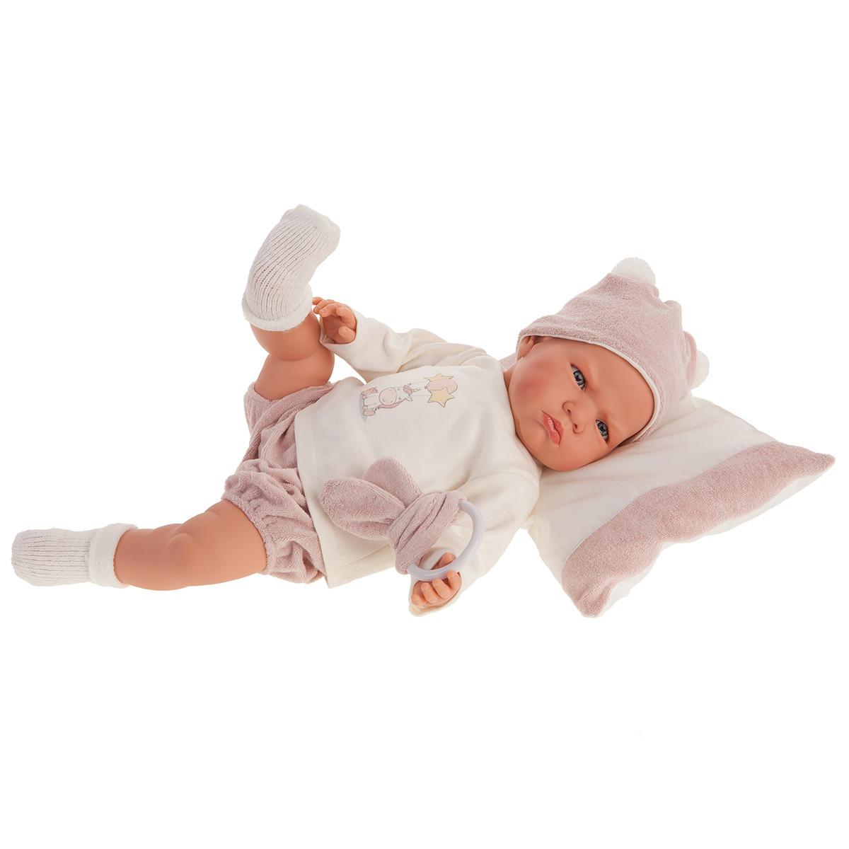 Купить 1956 Кукла Изабель в розовом, озвученная (детский лепет), 52 см, Antonio Juan,
