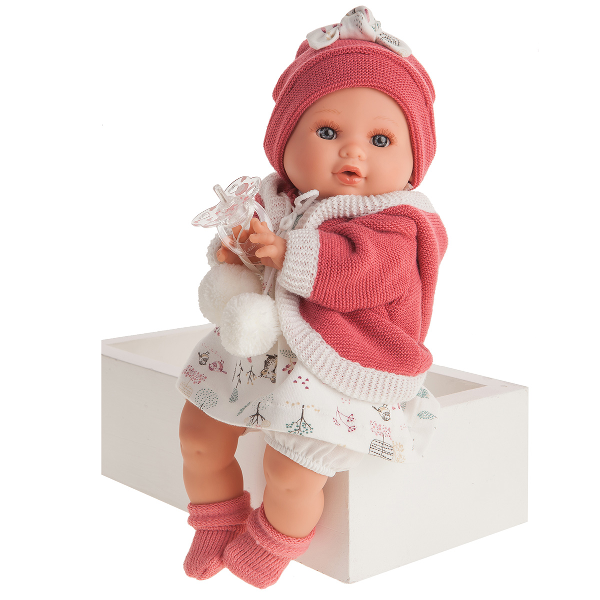 1342 Кукла Инесса в коралловом, озвученная (плач),