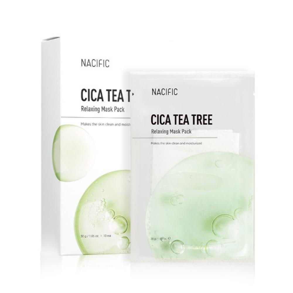 Купить Успокаивающая маска Nacific Cica Tea Tree Relaxing Mask Pack, 5шт., Nacific Cica Tea Tree Relaxing Mask Pack - 5шт.