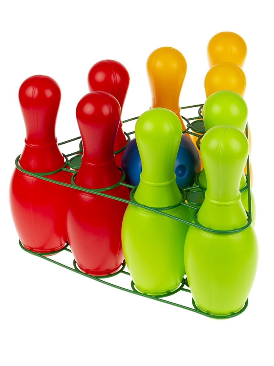Купить 0732 Набор для боулинга Радуга, 9 предметов, в сетке, Colorplast,