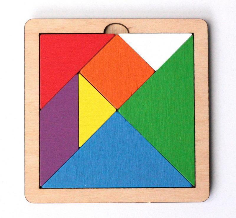 Логическая головоломка Танграм, 24 задания (цветная, малая) Десятое королевство 00786