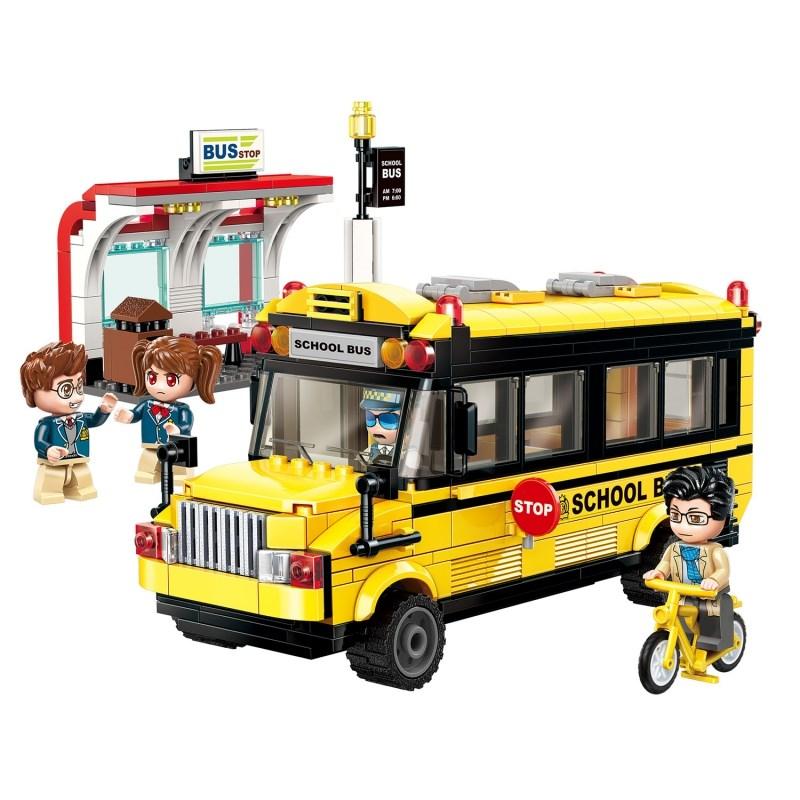Купить Конструктор QMAN Город: Школьный автобус (440 дет.) Qman (Enlighten),