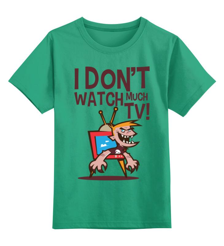 Детская футболка Printio Я не смотрю телек цв.зеленый р.128 0000003025748 по цене 990
