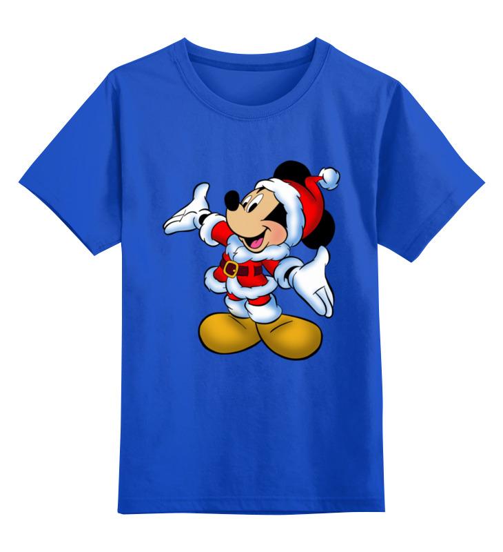 Купить 0000003062634, Детская футболка Printio Мышонок цв.синий р.128,