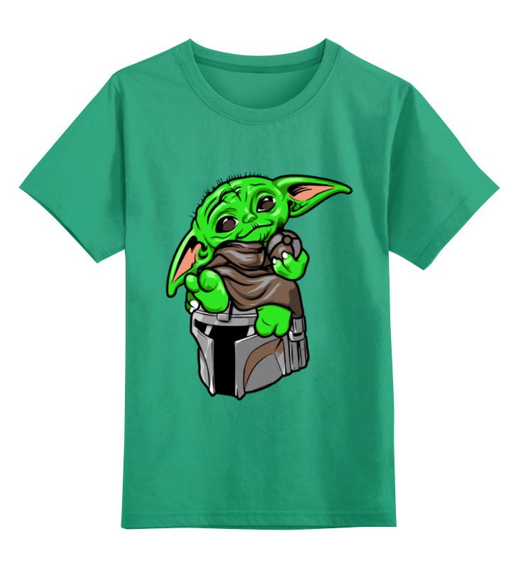 Купить 0000003124130, Детская футболка Printio Фэнтези цв.зеленый р.128,