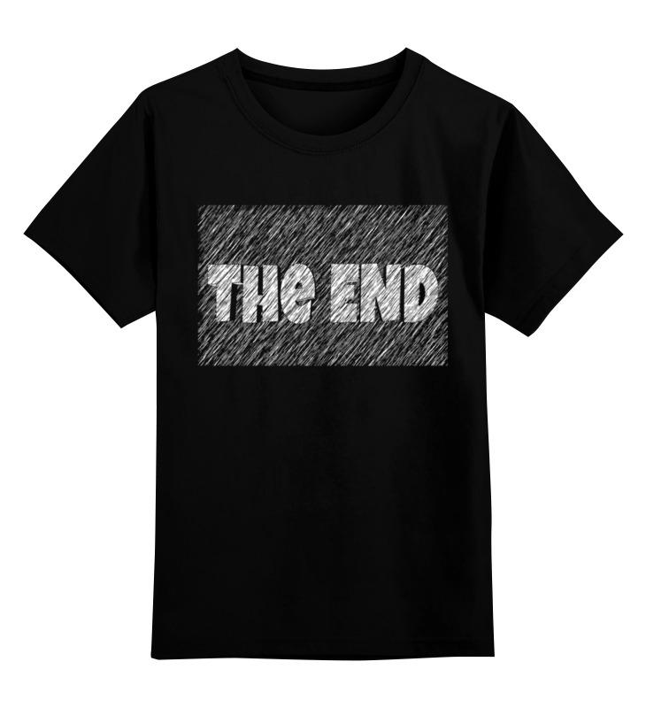 Купить 0000003308174, Детская футболка Printio The end цв.черный р.128,