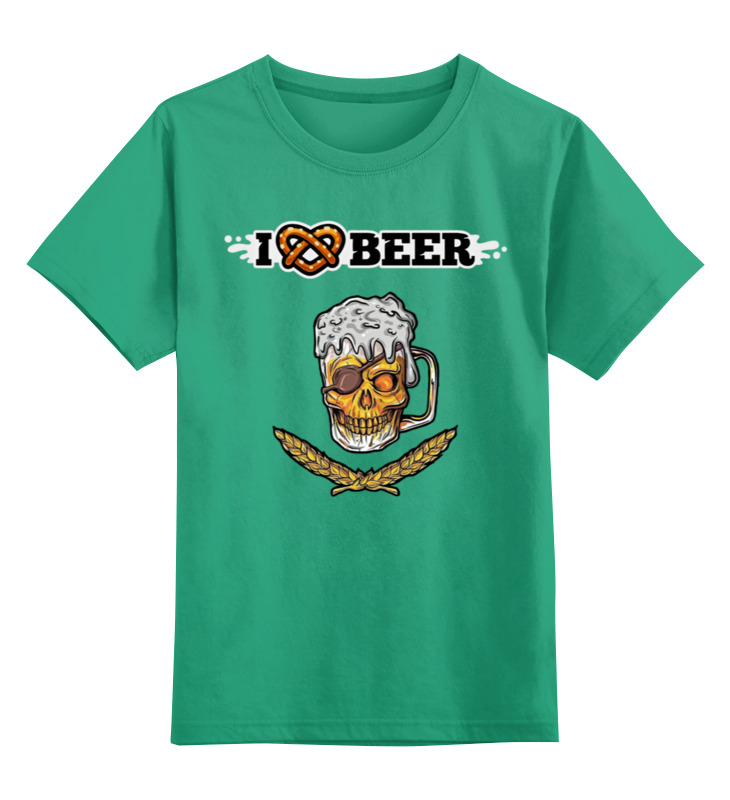 Детская футболка Printio Я люблю пиво цв.зеленый р.116 0000003164741 по цене 990