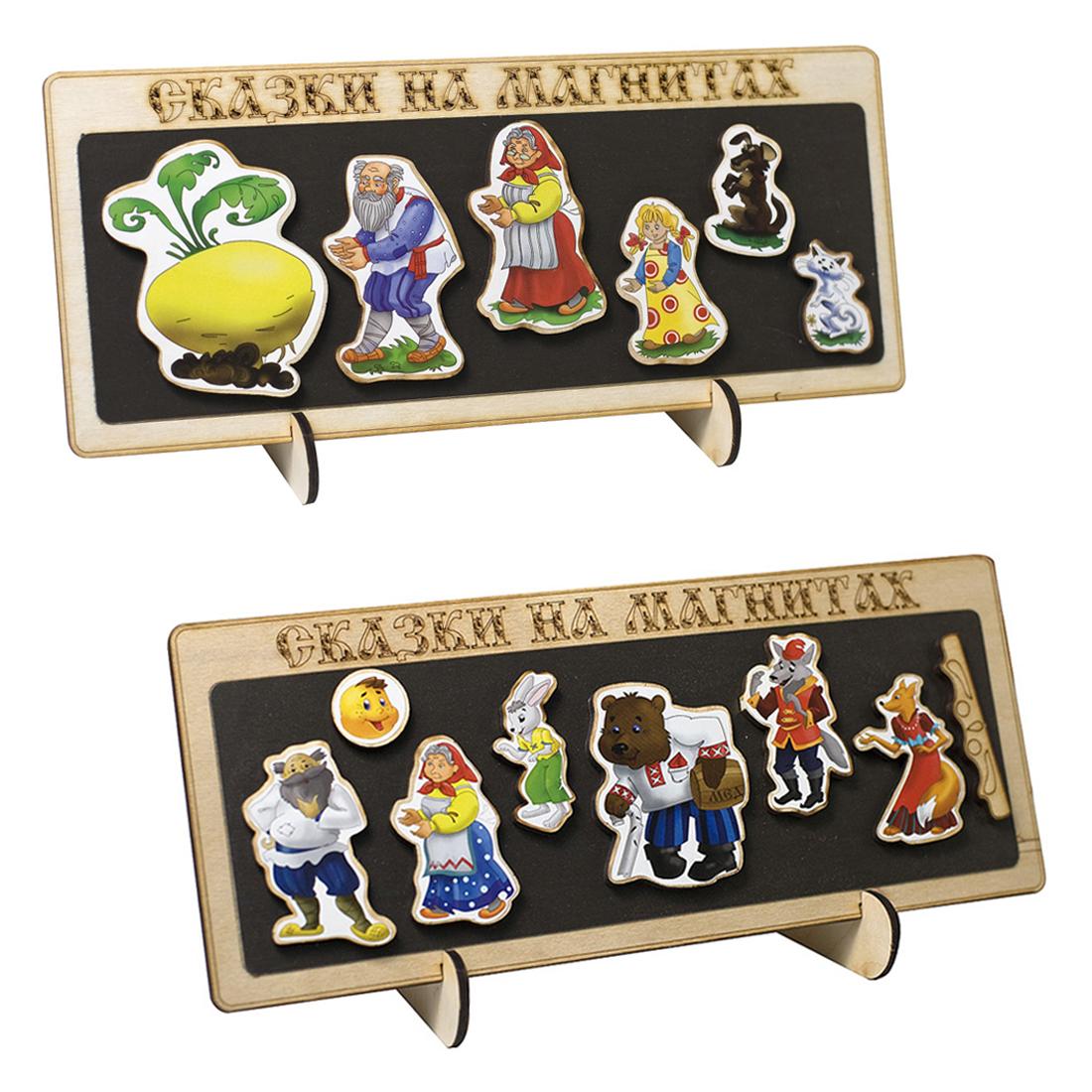 Купить Сказки на магнитах Репка + Сказки на магнитах Колобок, Нескучные Игры,