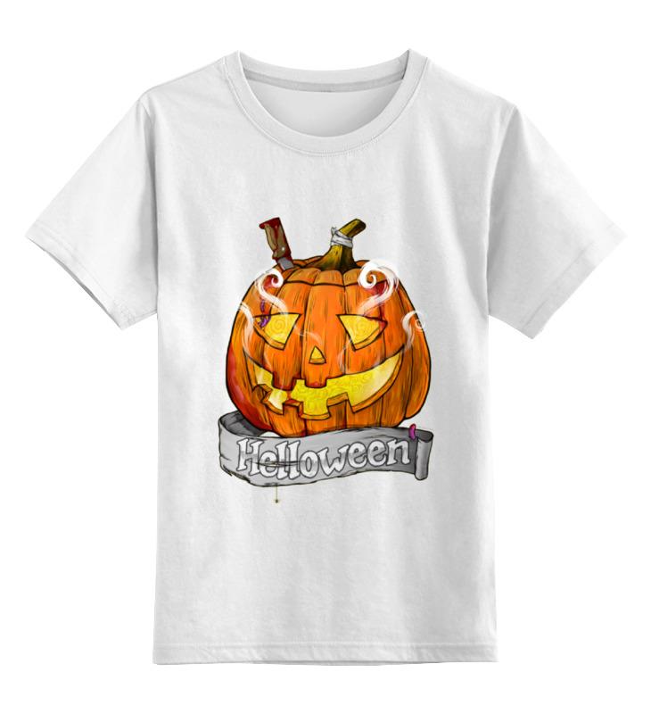 Купить 0000000641777, Детская футболка классическая Printio Helloween, р. 104,