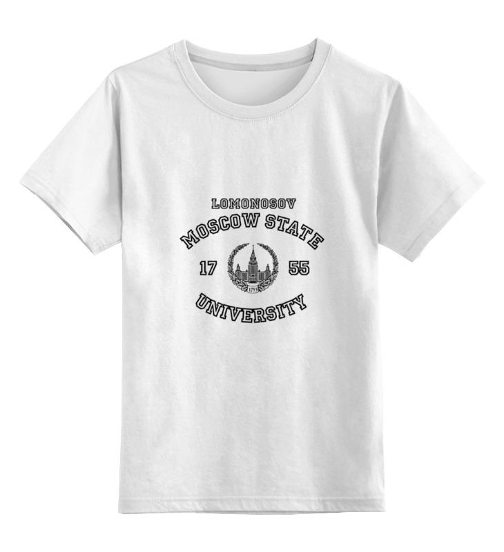Купить 0000000643599, Детская футболка классическая Printio МГУ, р. 104,
