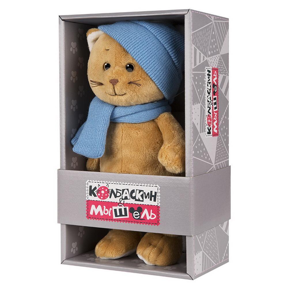 Мягкая игрушка Колбаскин, 20 см, в шарфе и шапке Колбаскин&Мышель MT-MRT062005-20