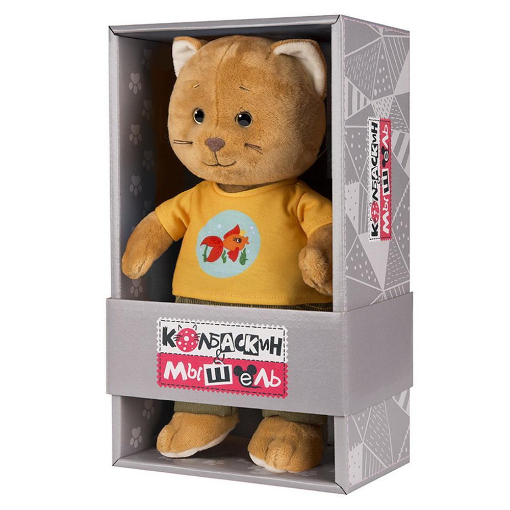 Мягкая игрушка Колбаскин, 25 см, в желтой футболке Колбаскин&Мышель MT-MRT062010-25