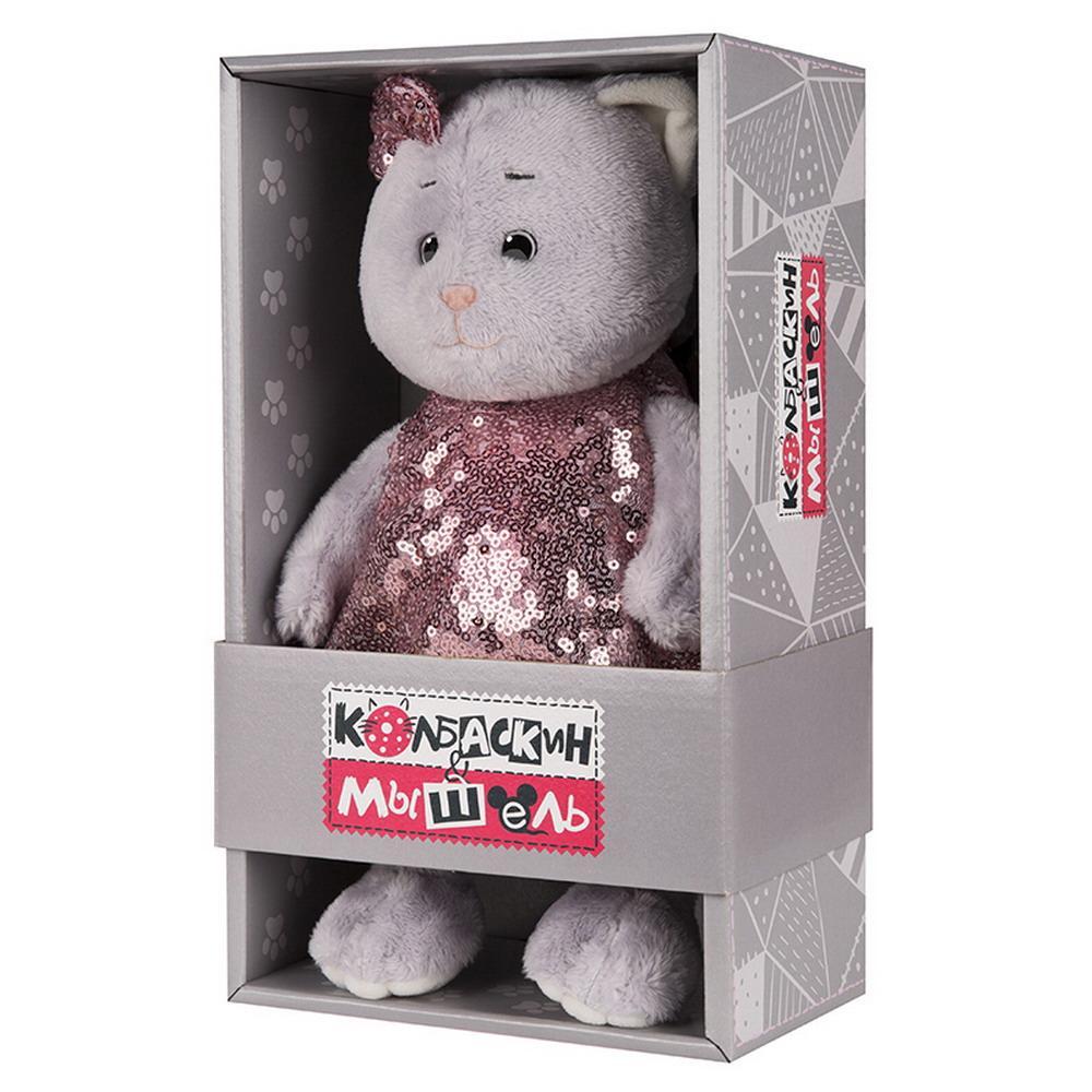 Мягкая игрушка Мышель, 20 см, в нарядном платье Колбаскин&Мышель MT-MRT062002-20