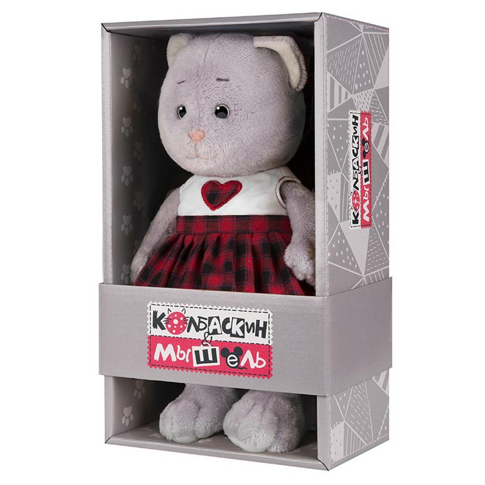 Мягкая игрушка Мышель, 25 см, в клетчатой юбке Колбаскин&Мышель MT-MRT062007-25