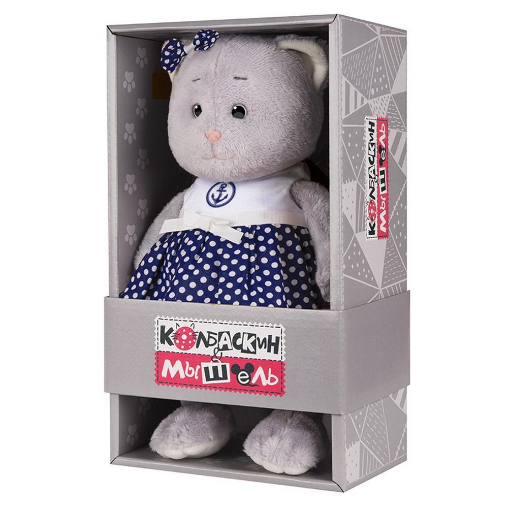 Мягкая игрушка Мышель, 25 см, платье в горошек Колбаскин&Мышель MT-MRT062006-25