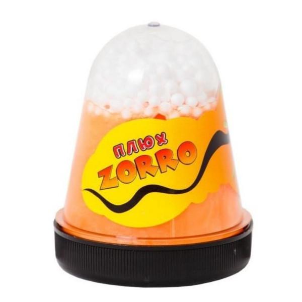 Слайм Плюх. Zorro, оранжевый перламутровый с шариками, 130 грамм Плюх 0878