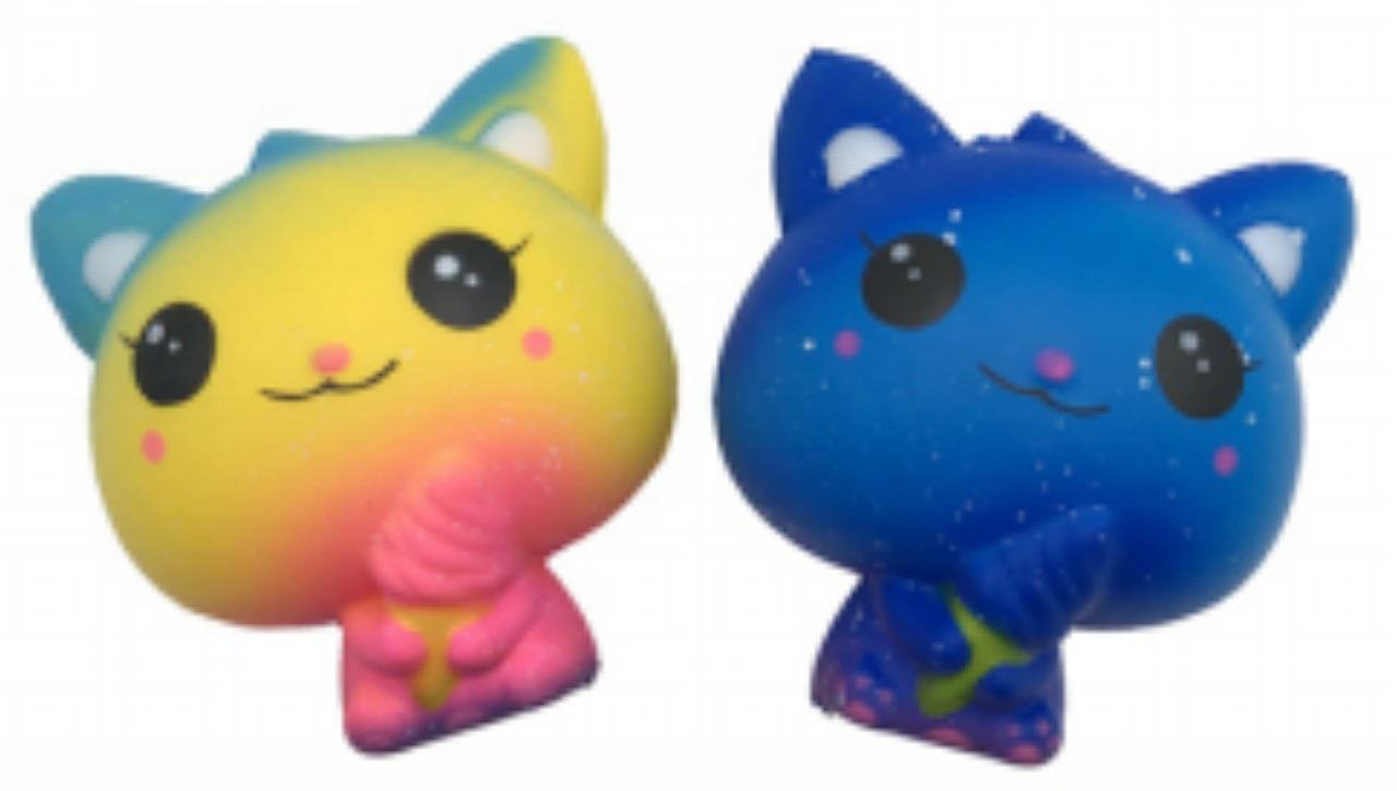 Антистресс-мялка Рыжий кот Кошка, 11 см MH16