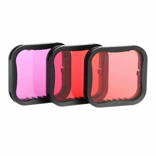 Фильтры Telesin на бокс GoPro 9 Red/Pink/Purple