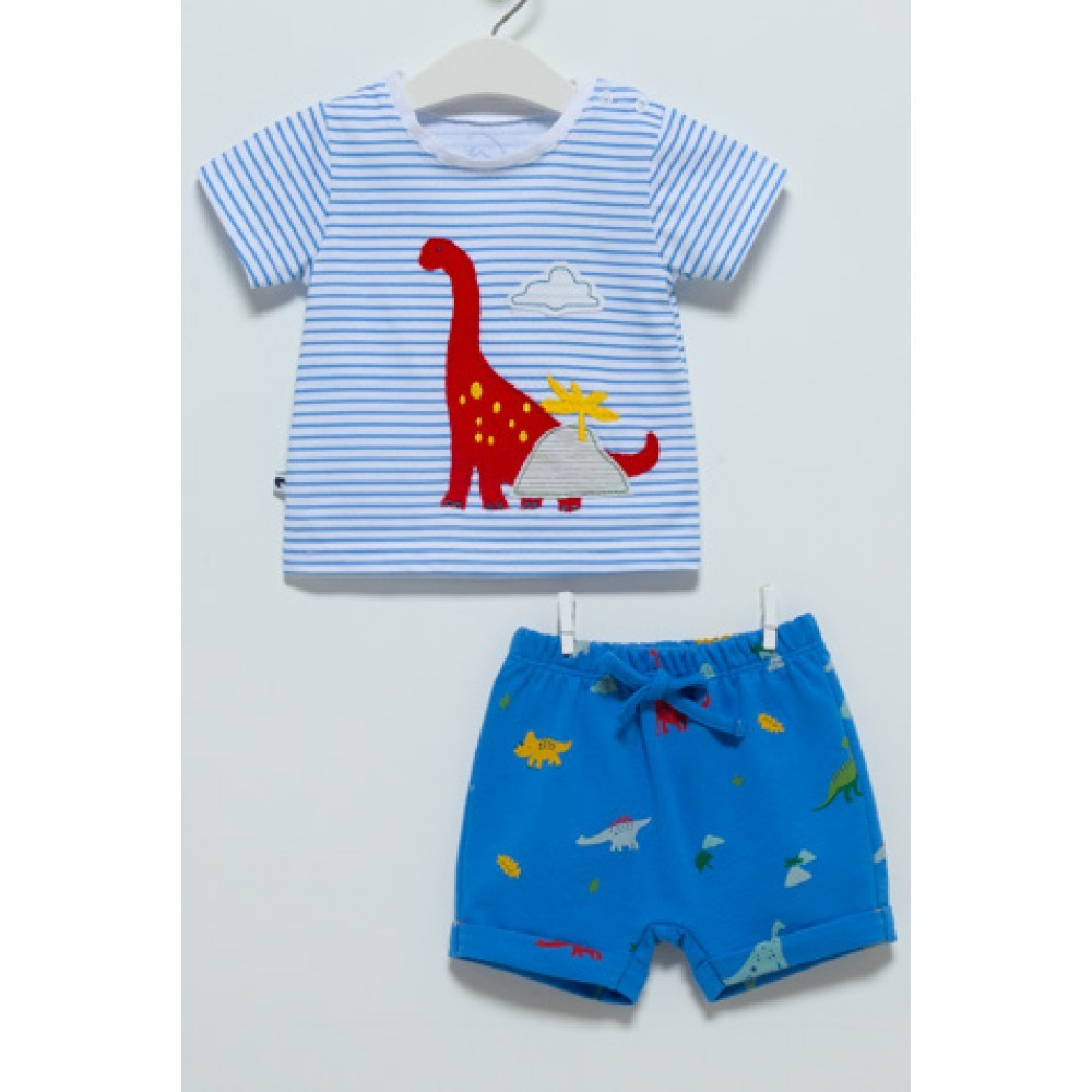 Купить Комплект для мальчика Caramell Dino футболка и шорты TKE7011 р.74,