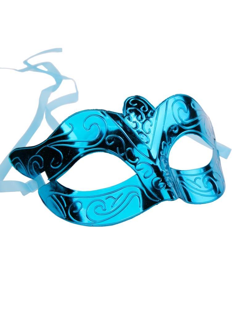 Купить Карнавальная маска Феникс-Презент Блестящая бирюза,