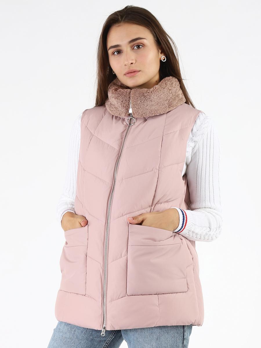 Утепленный жилет женский A passion play SQ65188 розовый S