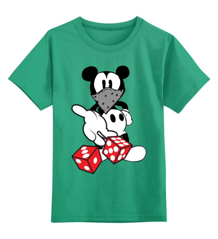 Детская футболка Printio Мышка цв.зеленый р.104 0000003068812 по цене 990