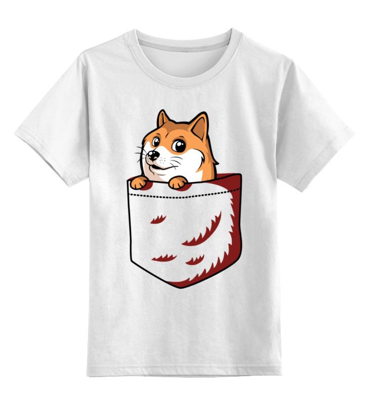 Детская футболка Printio Собакен цв.белый р.104 0000003095310 по цене 790